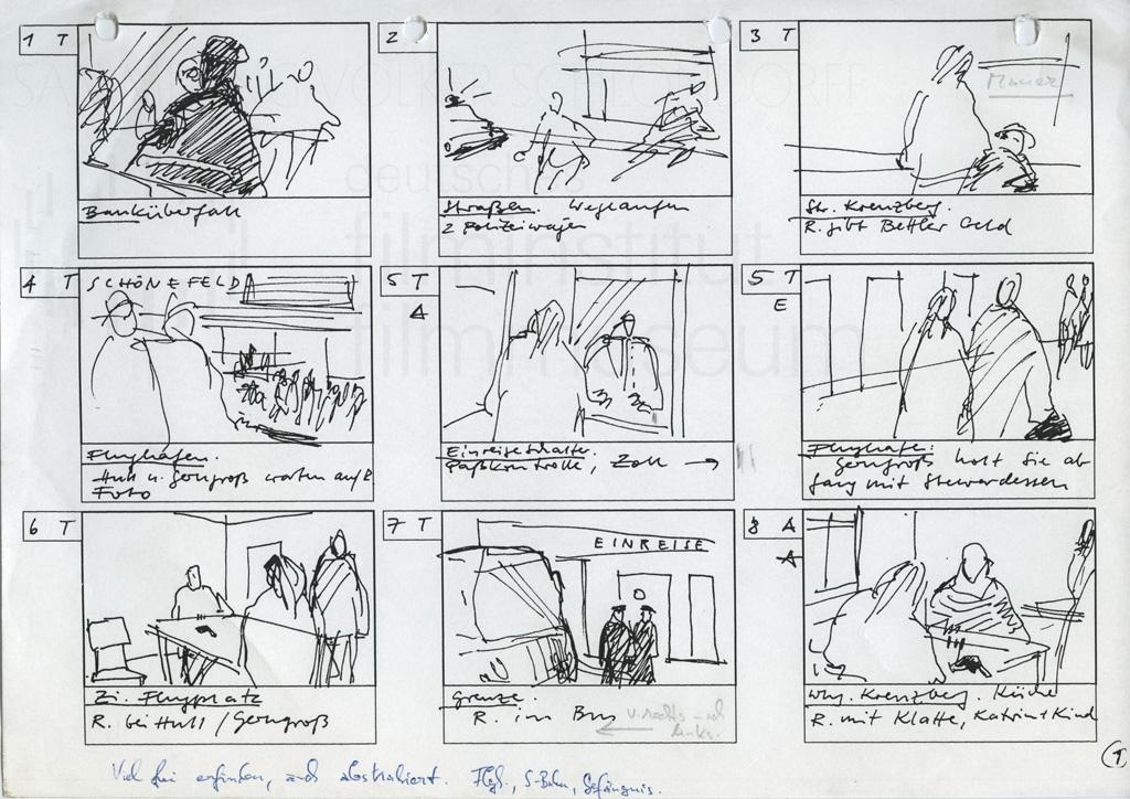 DIE STILLE NACH DEM SCHUSS // Produktionsunterlagen / Storyboards Filmanfang 1