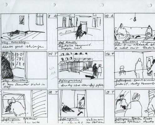 DIE STILLE NACH DEM SCHUSS // Produktionsunterlagen / Storyboards Filmanfang 2