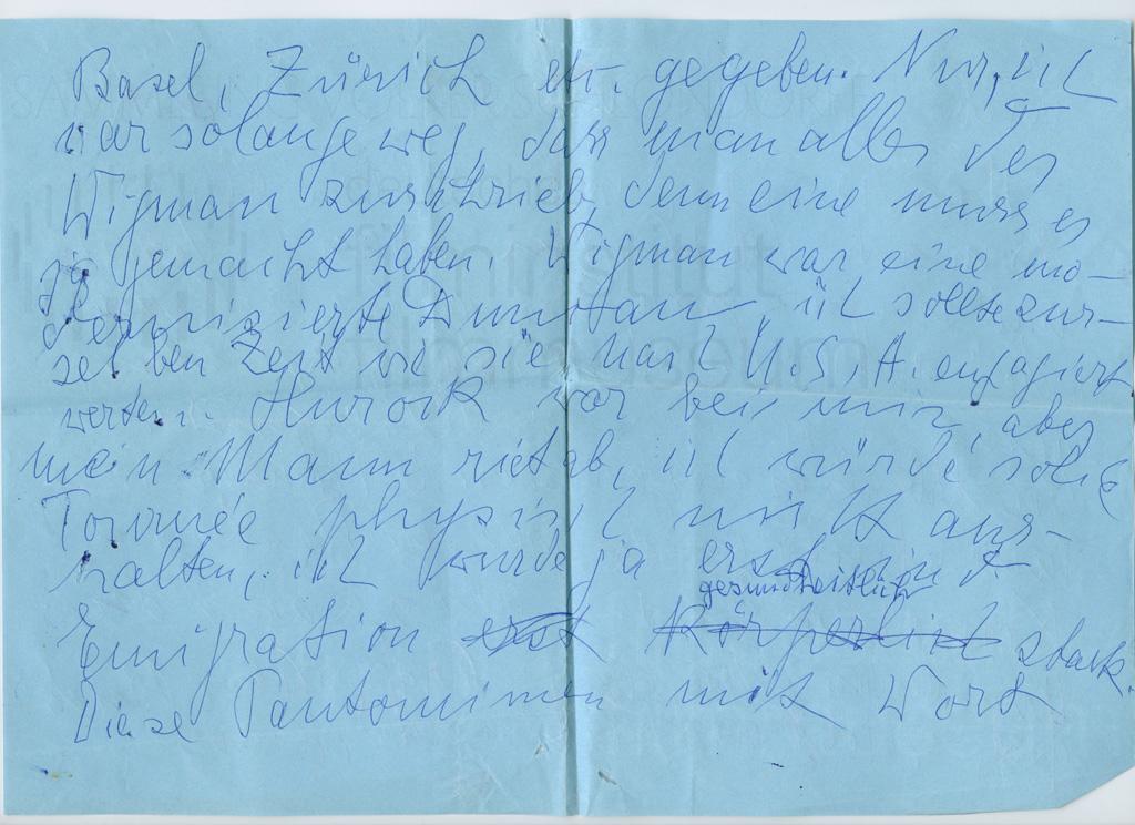 KALEIDOSKOP VALESKA GERT // Korrespondenz / Valeska Gert 1f
