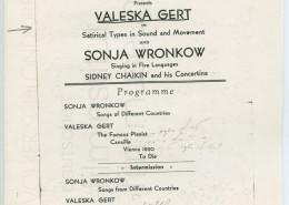 KALEIDOSKOP VALESKA GERT // Sonstiges / Auftrittsplakat 1940