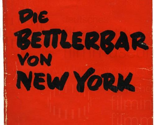 KALEIDOSKOP VALESKA GERT // Vorbereitungsmaterial / Die Bettlerbar von New York 1