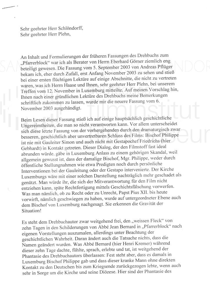 DER NEUNTE TAG // Korrespondenz / Léon Zeches, 1a