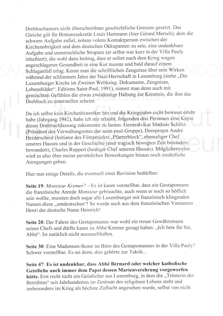 DER NEUNTE TAG // Korrespondenz / Léon Zeches, 1b