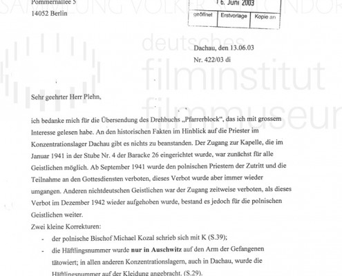 DER NEUNTE TAG // Korrespondenz / Barbara Distel, 1
