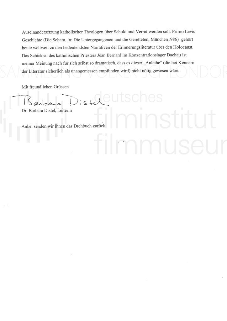 DER NEUNTE TAG // Korrespondenz / Wolfgang Plehn, 1a