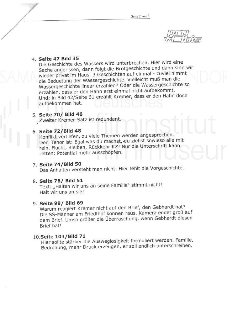 DER NEUNTE TAG // Korrespondenz / Jürgen Haase, 1a