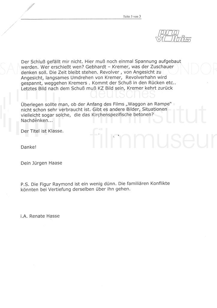 DER NEUNTE TAG // Korrespondenz / Jürgen Haase, 1b