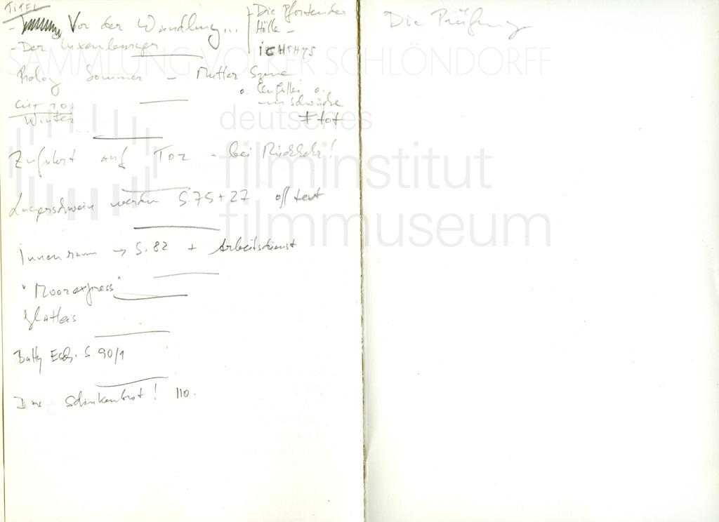 DER NEUNTE TAG // Vorbereitungsmaterial / Pfarrerblock 25487, 1a