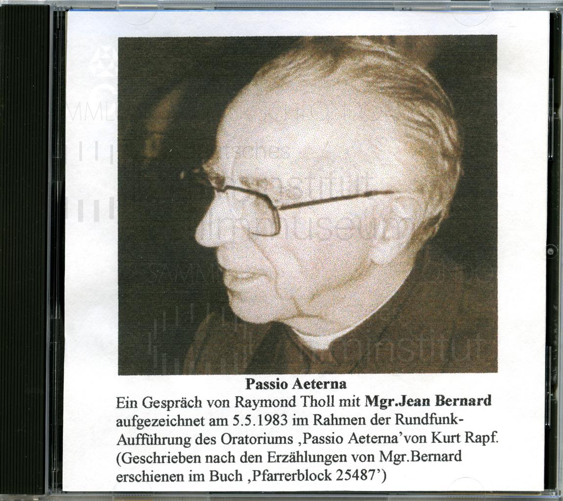 DER NEUNTE TAG // Vorbereitungsmaterial / Gespräch von Raymond Tholl mit Jean Bernard, 1