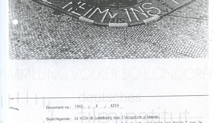 DER NEUNTE TAG // Vorbereitungsmaterial / La ville de Luxembourg sous l'occupation allemande, 1