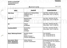 DER NEUNTE TAG // Vorbereitungsmaterial / Motivliste, 1
