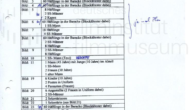 DER NEUNTE TAG // Vorbereitungsmaterial / Besetzungsliste 1