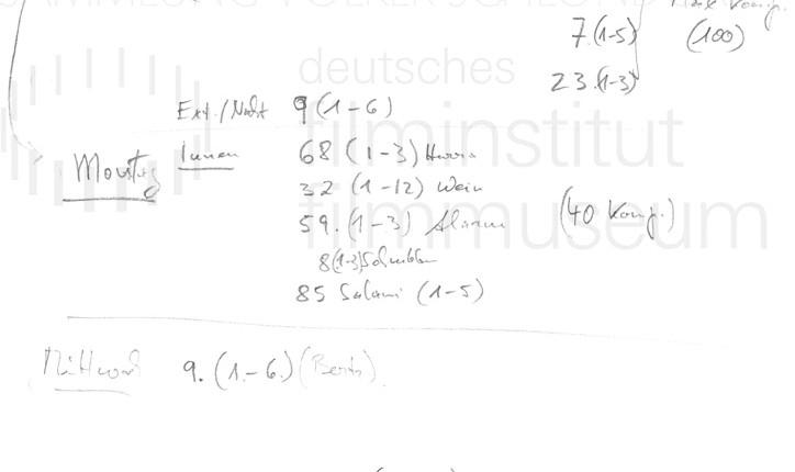 DER NEUNTE TAG // Produktionsmaterial / Notizen, 4