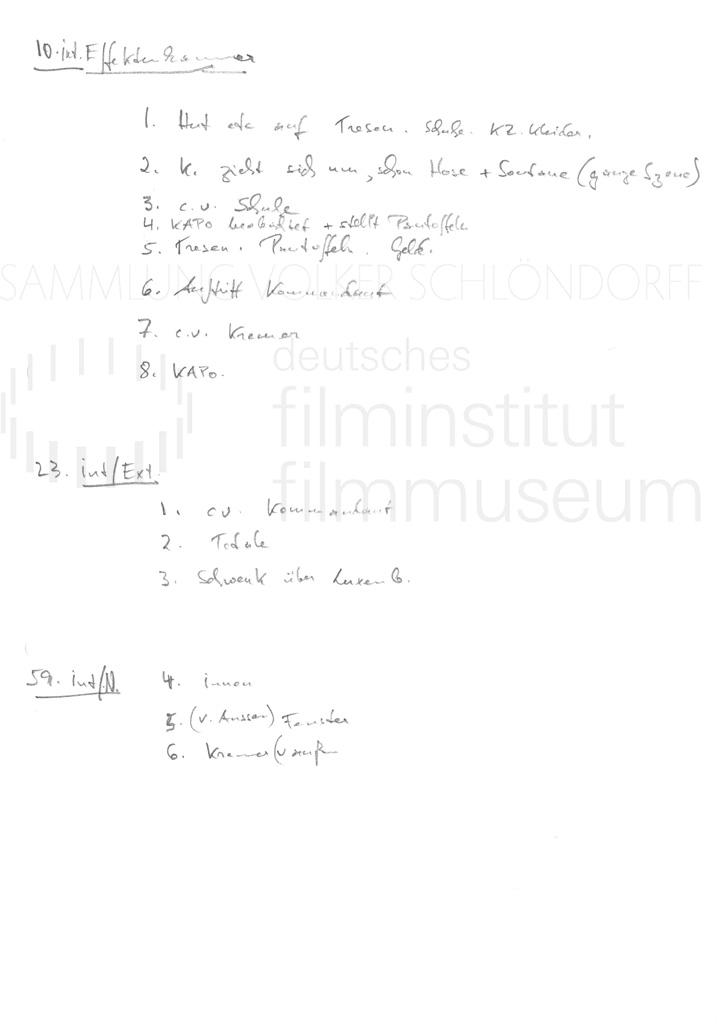 DER NEUNTE TAG // Vorbereitungsmaterial / Motivliste, 2
