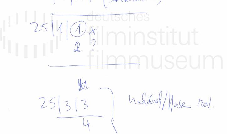 DER NEUNTE TAG // Produktionsmaterial / Notizen, 1