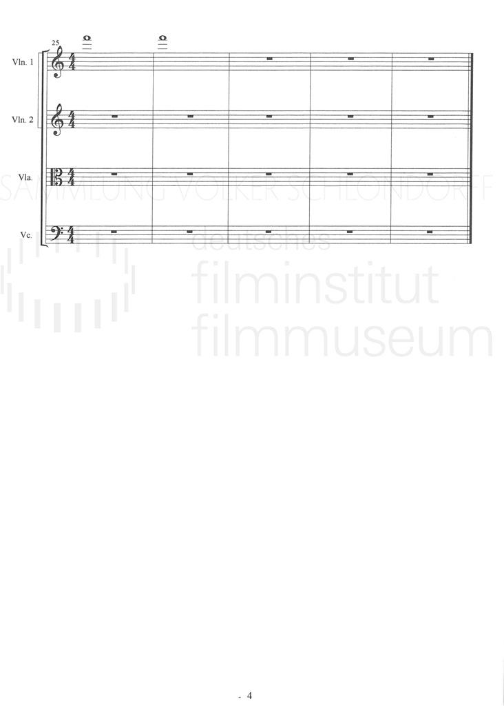 DER NEUNTE TAG // Produktionsmaterial / Musik, 1c