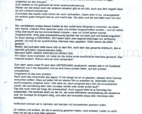 DER NEUNTE TAG // Korrespondenz / Volker Schlöndorff, 1