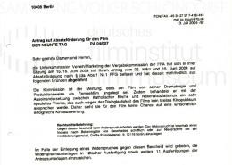 DER NEUNTE TAG // Korrespondenz / Filmförderungsanstalt