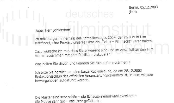 DER NEUNTE TAG // Korrespondenz / Jürgen Haase, 3