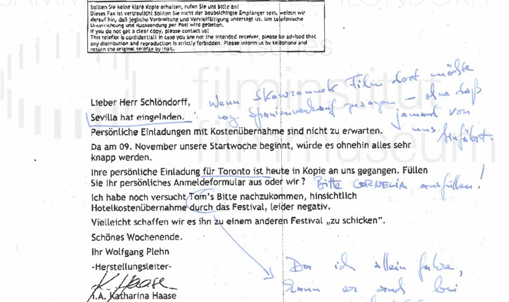 DER NEUNTE TAG // Korrespondenz / Wolfgang Plehn, 2