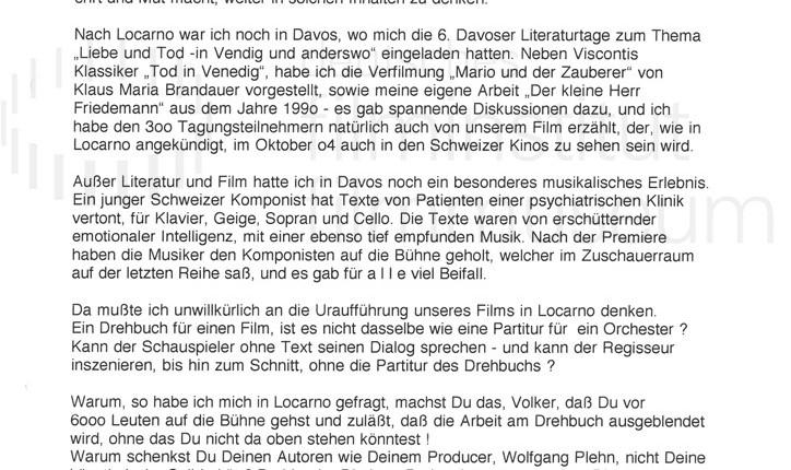 DER NEUNTE TAG // Korrespondenz / Eberhard Görner, 1