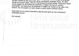 DER NEUNTE TAG // Korrespondenz / Olaf Lezinsky