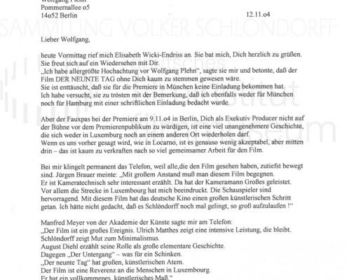 DER NEUNTE TAG // Korrespondenz / Eberhard Görner, 2