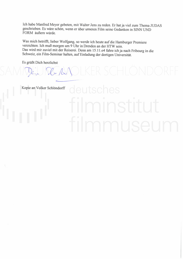 DER NEUNTE TAG // Korrespondenz / Eberhard Görner, 2a