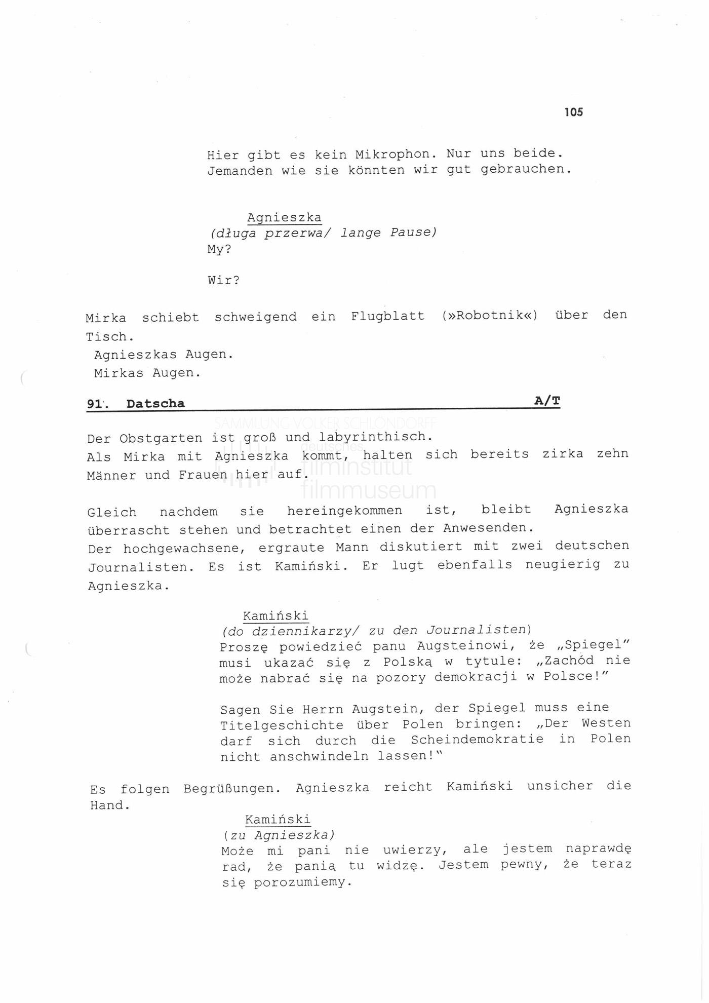 """STRAJK // Vorbereitungsmaterial / Drehbuchauszug """"Heldin wider Willen"""", 1"""