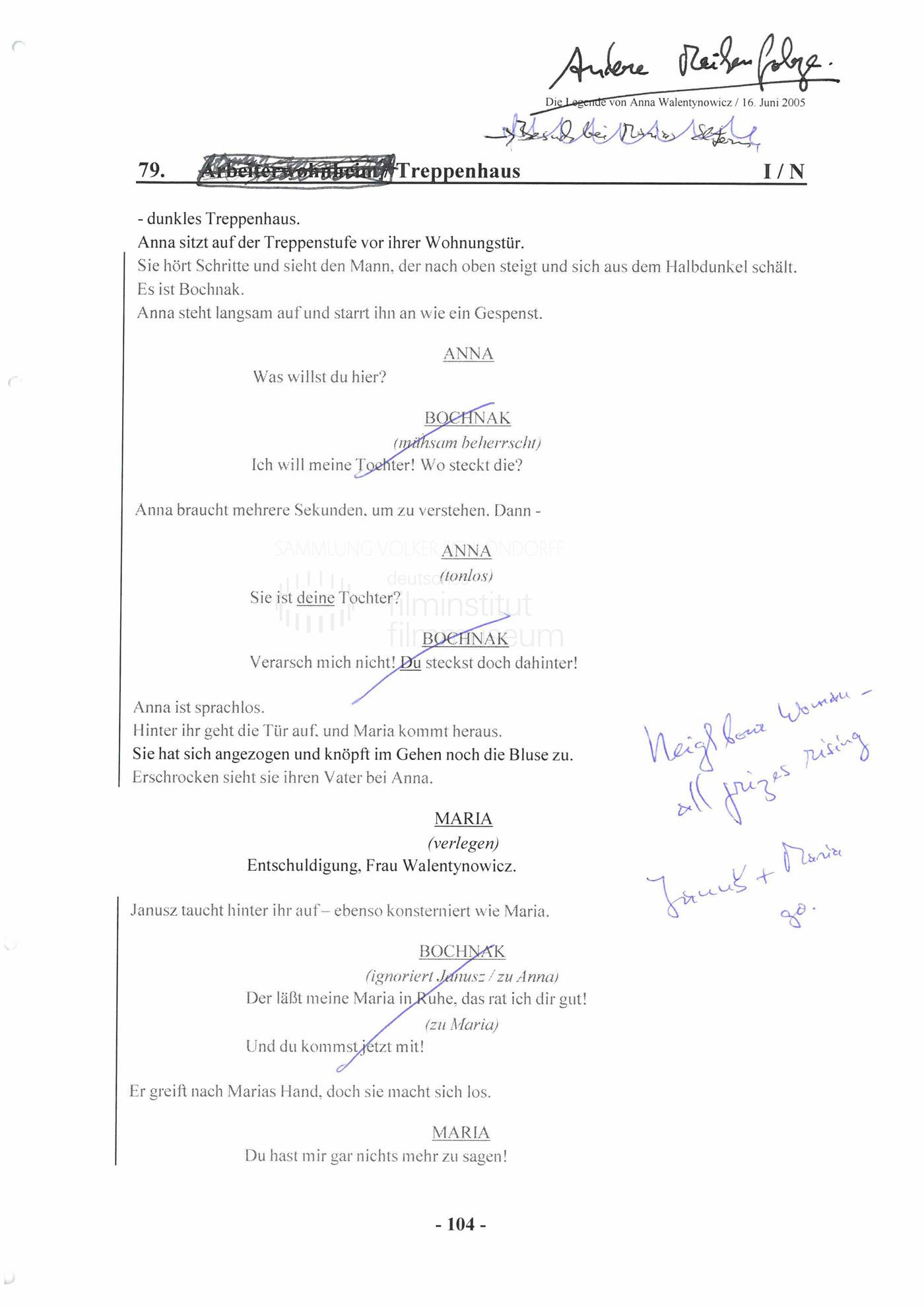 """STRAJK // Vorbereitungsmaterial / Drehbuchauszug """"Die Legende von Anna Walentynowicz"""", 2"""