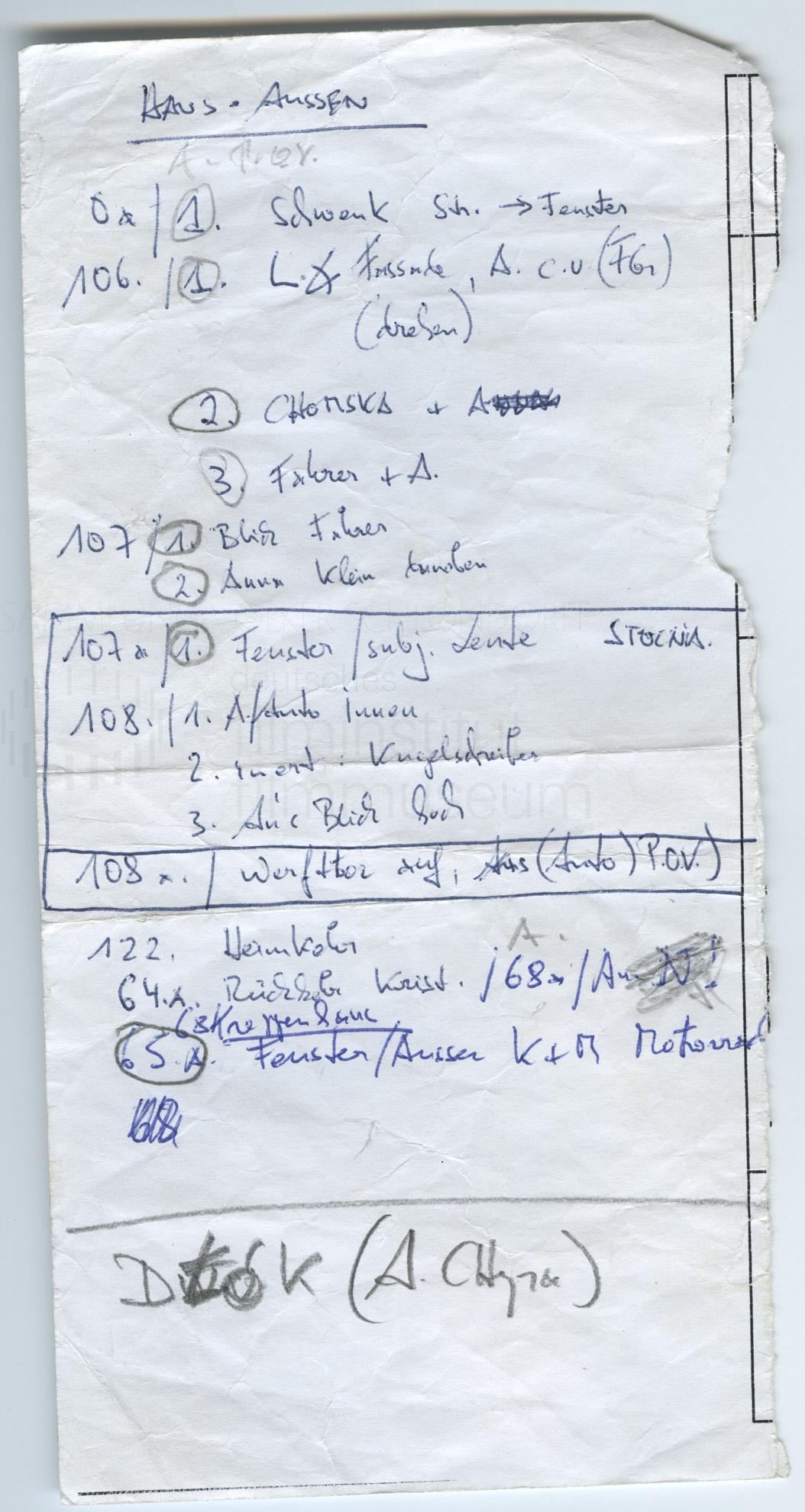 STRAJK // Produktionsmaterial / Notizen, 1