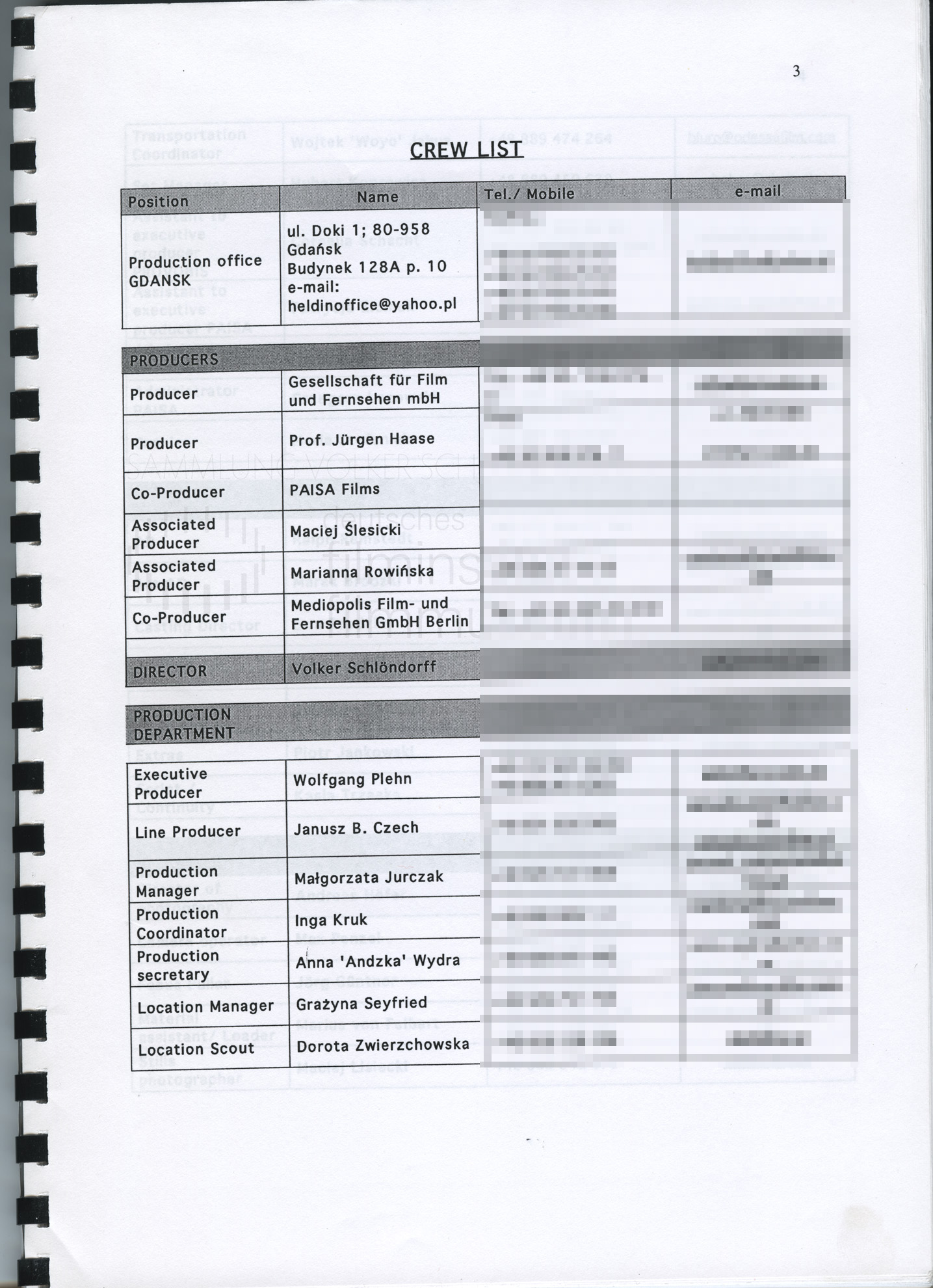 STRAJK // Produktionsmaterial / Produktionsbuch, 1c
