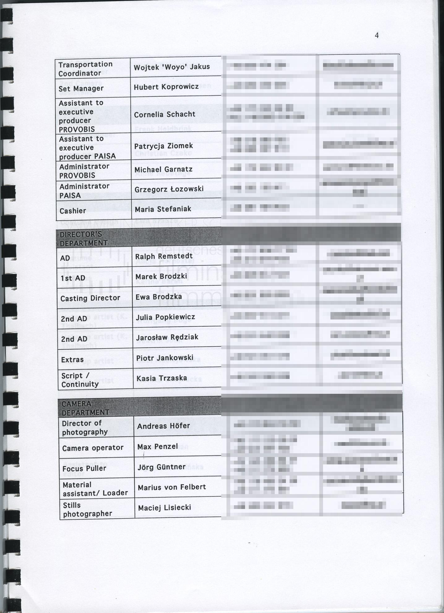 STRAJK // Produktionsmaterial / Produktionsbuch, 1d
