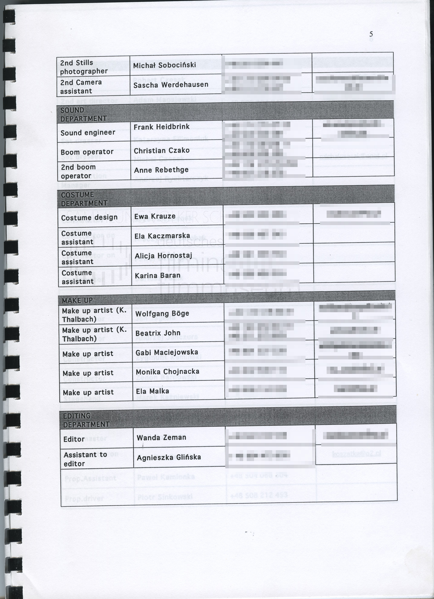 STRAJK // Produktionsmaterial / Produktionsbuch, 1e