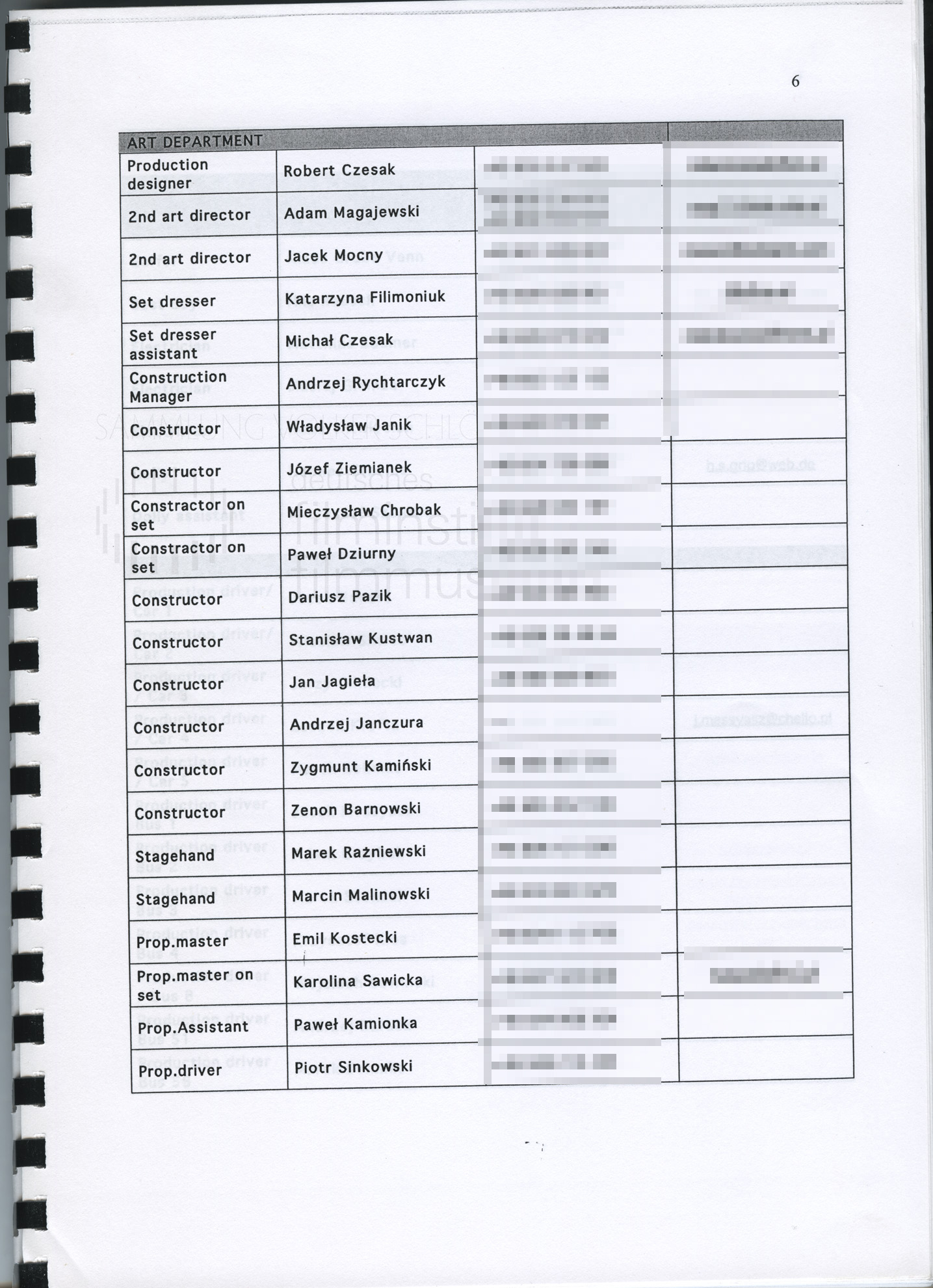 STRAJK // Produktionsmaterial / Produktionsbuch, 1f