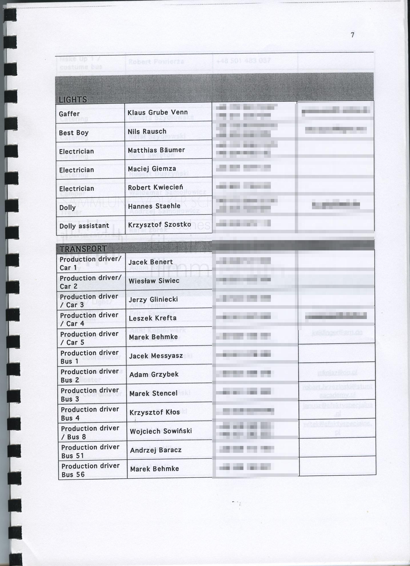 STRAJK // Produktionsmaterial / Produktionsbuch, 1g