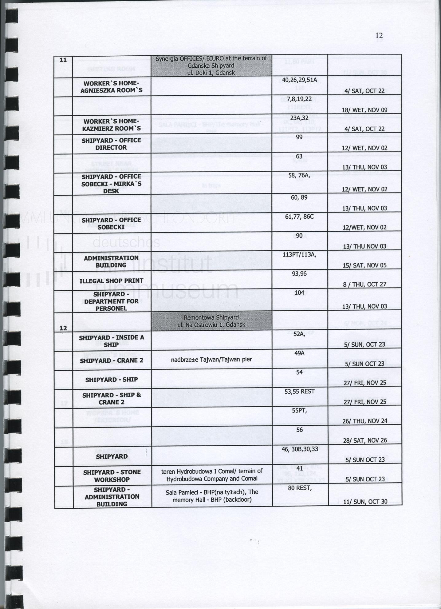 STRAJK // Produktionsmaterial / Produktionsbuch, 1l