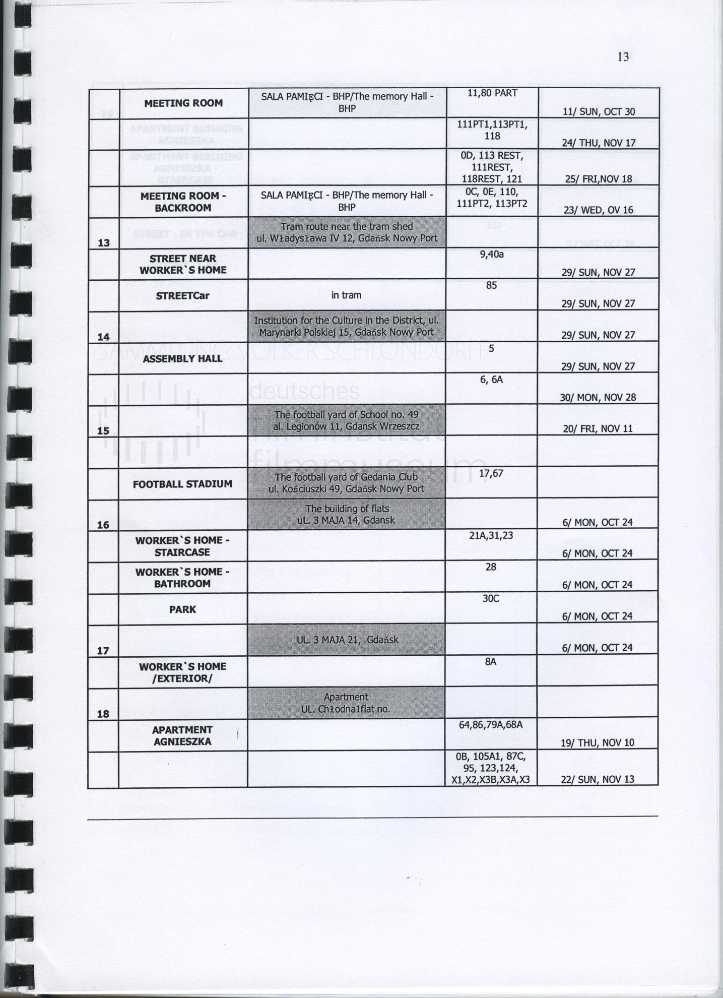 STRAJK // Produktionsmaterial / Produktionsbuch, 1m