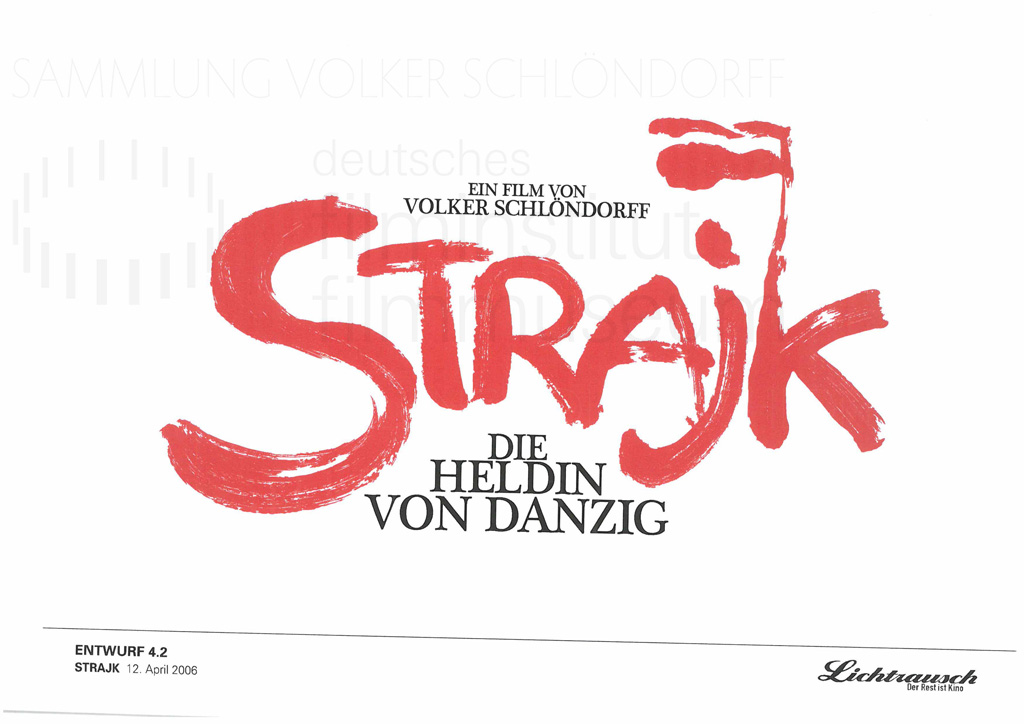 STRAJK // Vorbereitungsmaterial / Titel-Layout, 1f