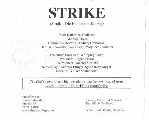 STRAJK // Werbung und Verleih / Presseheft engl.