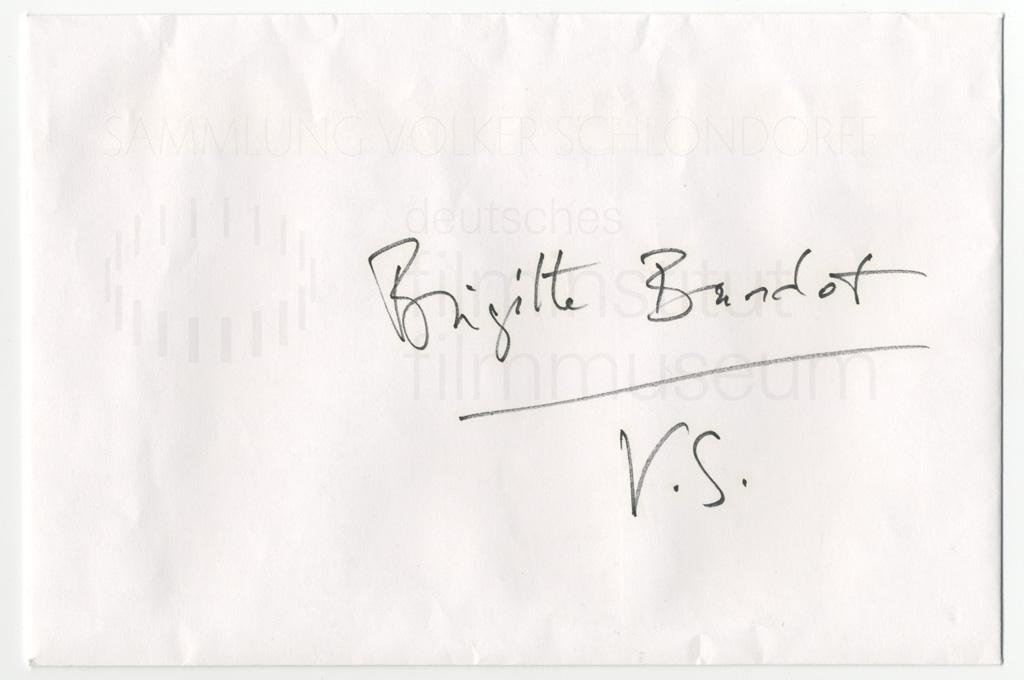 VIVA MARIA! // Korrespondenz / Brigitte Bardot, 2