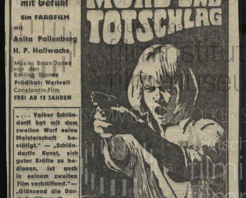MORD UND TOTSCHLAG // Werbung und Verleih / Anzeige 2. Woche Hamburg
