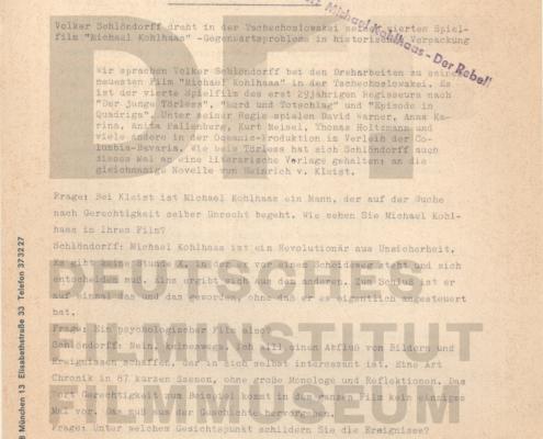 MICHAEL KOHLHAAS - DER REBELL // PRESSE / Interview Ostermarsch im Mittelalter