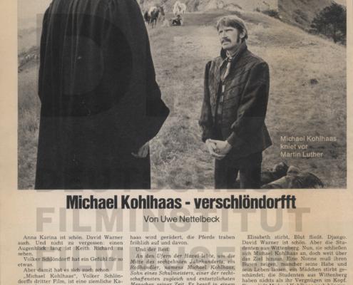 MICHAEL KOHLHAAS - DER REBELL // PRESSE / Michael Kohlhaas - verschlöndorfft 1